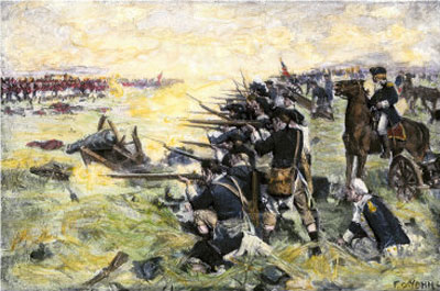 Americans Holding Their Ground at the Battle of the Brandywine