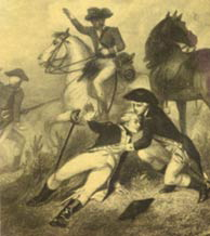 La Fayette wounded at the Battle of Brandywine